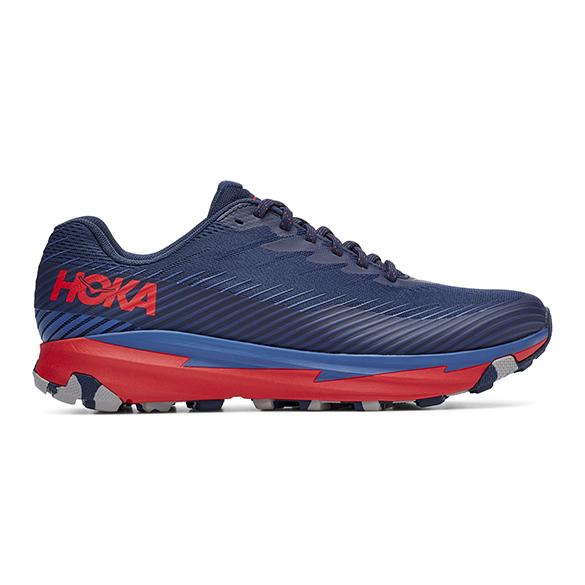 Hoka One One Torrent 2 hardloopschoenen blauw/rood heren  1110496-MOHRR