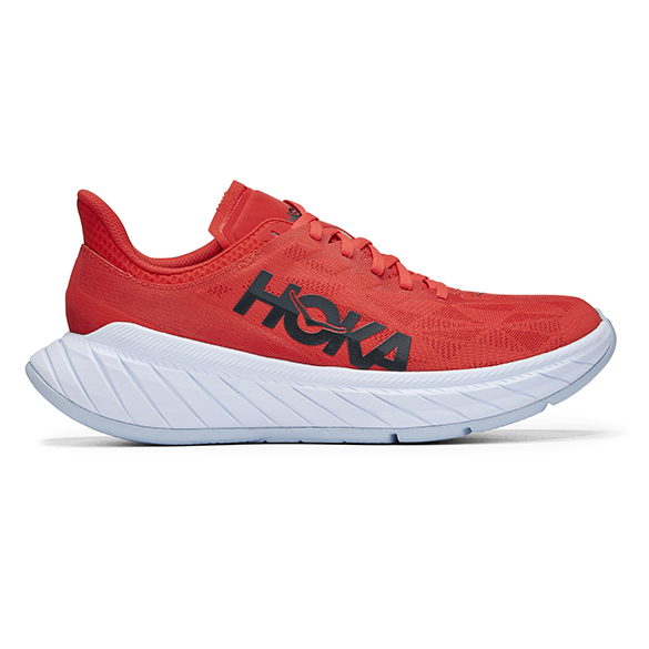 Hoka One One Carbon X 2 hardloopschoenen rood heren  1113526-FWT