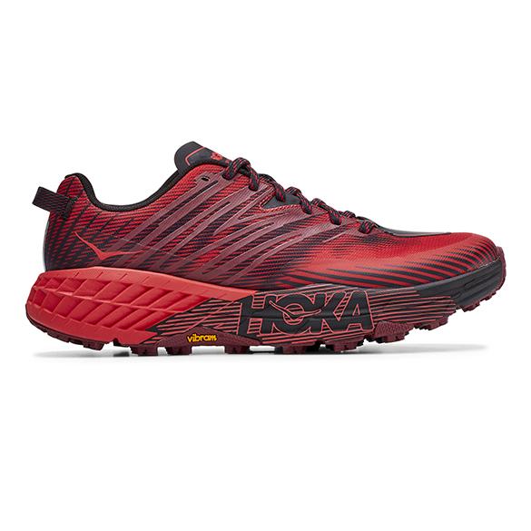 Hoka One One Speedgoat 4 trail hardloopschoenen rood heren  1106525-CHRRD