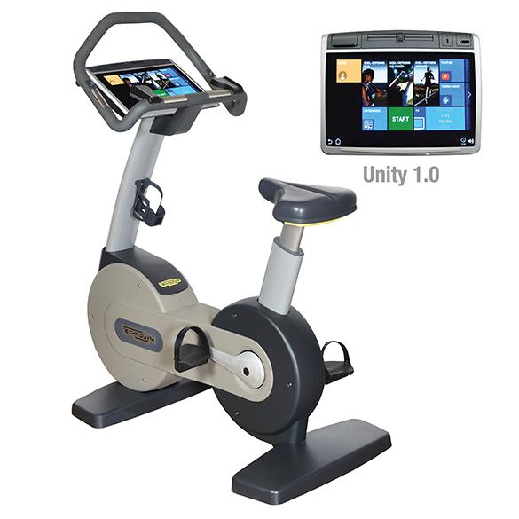 TechnoGym hometrainer Excite+ New Bike 700 Unity zilver gebruikt  BBTGENB700UZI