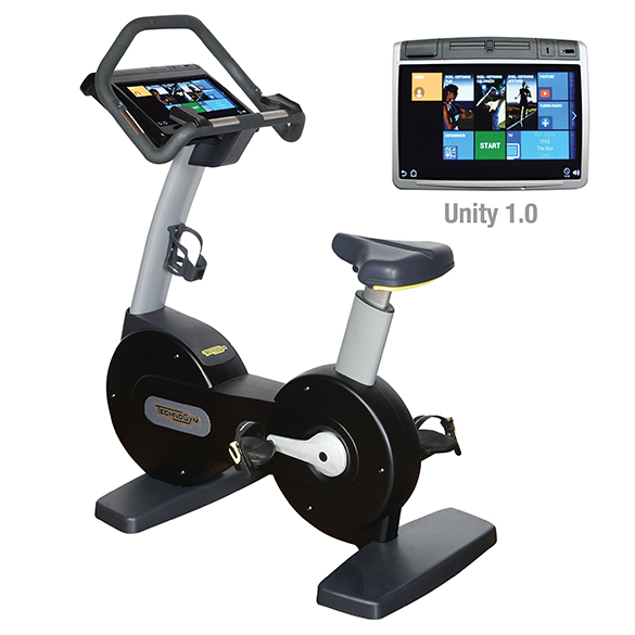 TechnoGym hometrainer Excite+ New Bike 700 Unity zwart gebruikt  BBTGENB700UZW