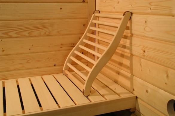 Karibu ergonomische sauna rugsteun  KARIBURUGST