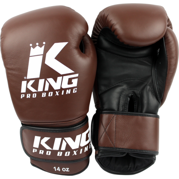 King KPB-4 (kick)bokshandschoenen pro boxing bruin  KPB-4B