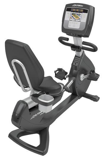 """Life Fitness ligfiets recumbent Platinum Club Series Inspire 7"""" PCSR Gebruikt LFPCSRECINSP"""