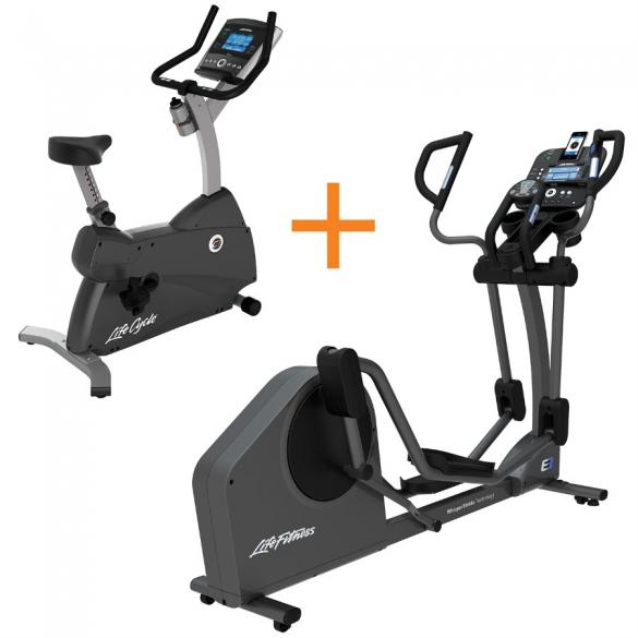life fitness crosstrainer e3 track met gratis life fitness c1 go kopen bestel bij. Black Bedroom Furniture Sets. Home Design Ideas
