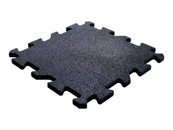 Lifemaxx Puzzelmat 20mm Crossmaxx jigsaw rubber tegel (50 x 50 cm)  LMX1345.20BLACK