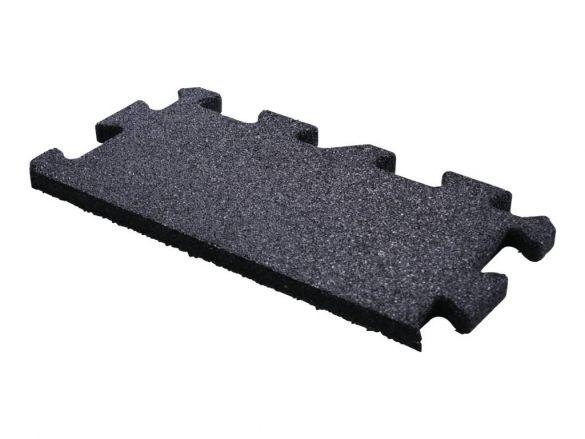 Lifemaxx Puzzelmat 20mm Crossmaxx jigsaw rubber rand (50 x 25 cm)  LMX1346.20BLACK