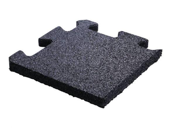 Lifemaxx Puzzelmat 20mm Crossmaxx jigsaw rubber hoek (25 x 25 cm)  LMX1347.20BLACK