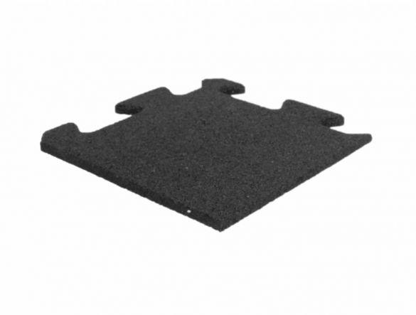 Lifemaxx Puzzelmat 10mm ECO rubber hoek (25 x 25 cm)  LMX1367