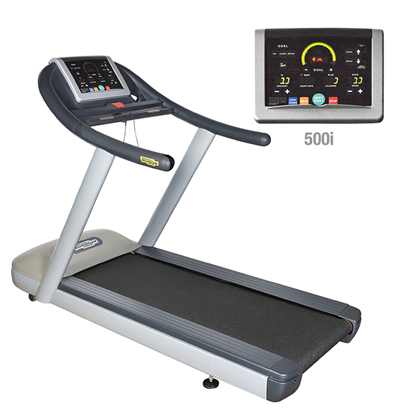 TechnoGym Loopband jog now Excite+ 500i zilver gebruikt  BBTGJNE500IZI