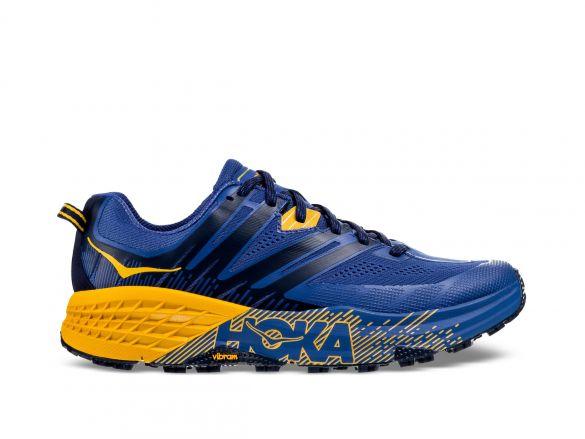 Hoka One One Speedgoat 3 trail hardloopschoenen blauw/geel heren  1099733-GBOG