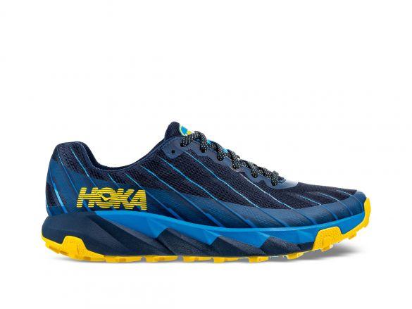 Hoka One One Torrent trail hardloopschoenen blauw/geel heren  1097751-MODB