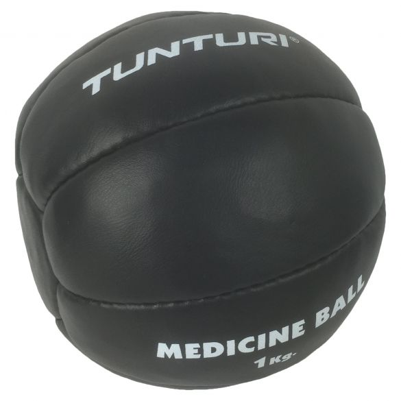 Tunturi Medicine ball Kunstleer 1 kg zwart  14TUSBO101