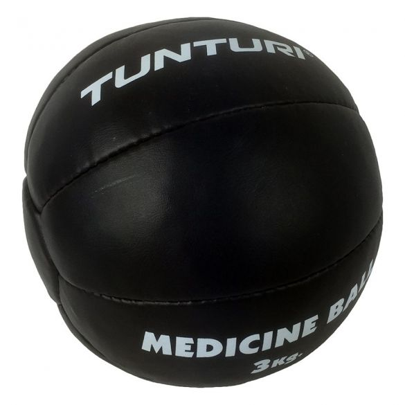 Tunturi Medicine ball Kunstleer 3 kg zwart  14TUSBO103