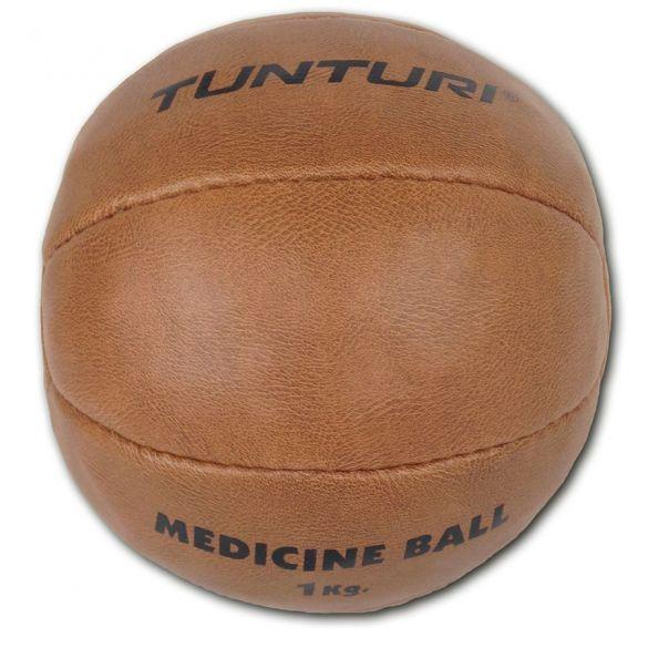 Tunturi Medicine ball Kunstleer 1 kg bruin  14TUSBO097