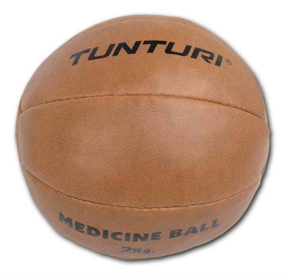 Tunturi Medicine ball Kunstleer 2 kg bruin  14TUSBO098