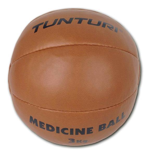 Tunturi Medicine ball Kunstleer 3 kg bruin  14TUSBO099