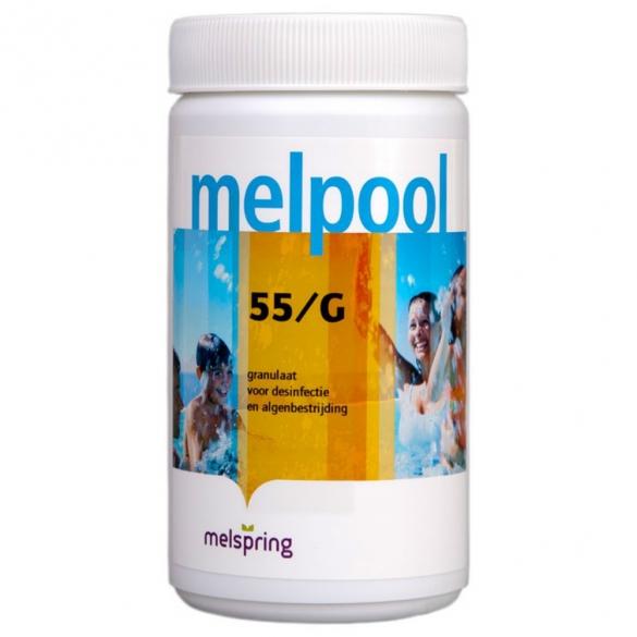 Melpool chloorgranulaat 55/G - 1 kg  MELPOOL55G
