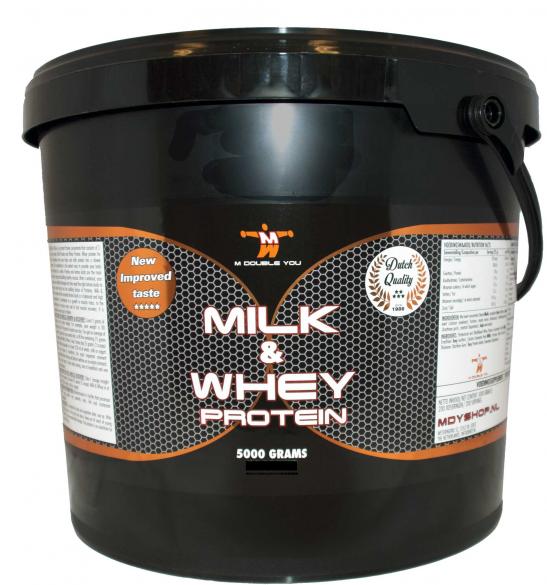 M Double You milk & whey protein vanille 5000 gram  MDYM&WVAN5000