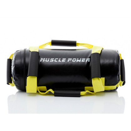 Muscle Power Power Bag 10 kilogram geel MP1030  MP1030