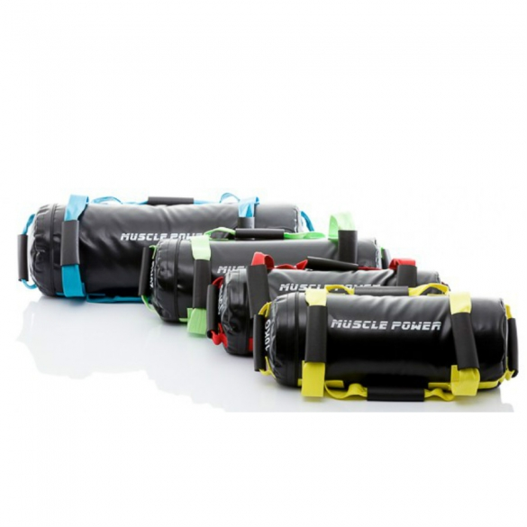 Muscle Power Power Bag Set 10 - 15 - 20 en 25 kilogram blauw MP1030  MP1030SET