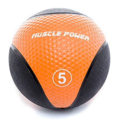 Muscle Power Medicine Ball  5 kg Oranje MP1005  MP1005ORANJE
