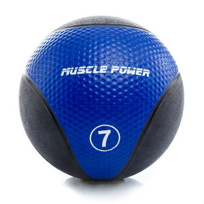 Muscle Power Medicine Ball  7 kg Blauw MP1005  MP1005BLAUW