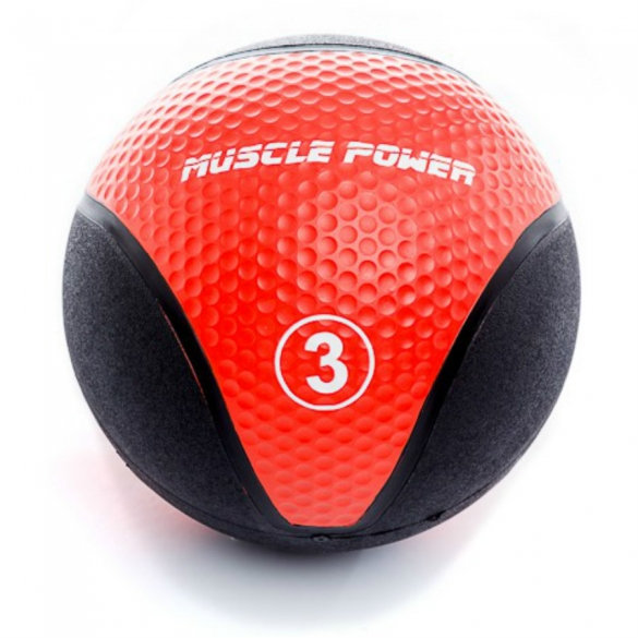 Muscle Power Medicine Ball 3 kg Rood MP1005  MP1005ROOD
