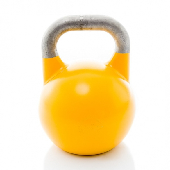 Muscle Power Competition Kettlebell Geel 16 KG MP1302  MP1302GEEL