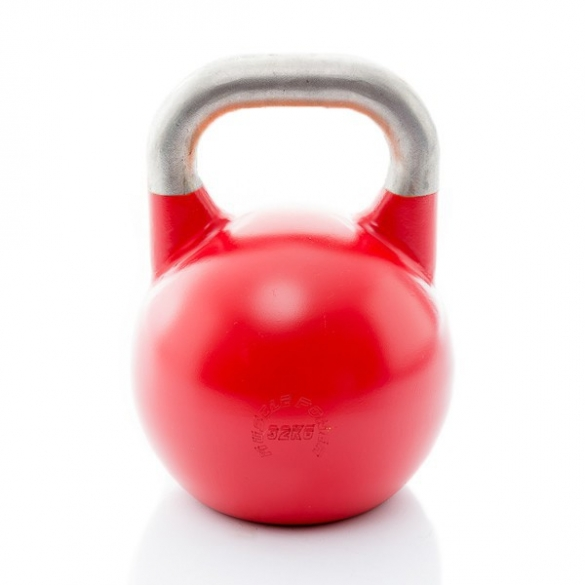 Muscle Power Competition Kettlebell Rood 32 KG MP1302  MP1302ROOD