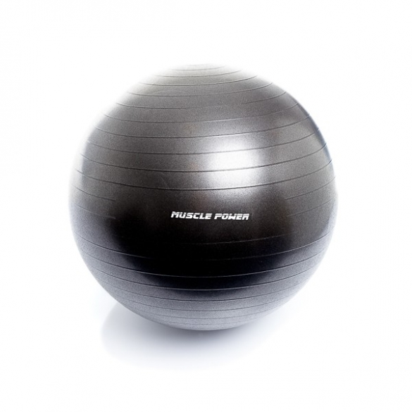 Muscle Power Gym Ball 75 CM Zwart MP1462  MP146275CM