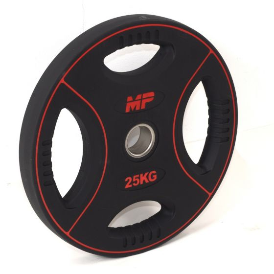 Muscle Power 50mm PU halterschijf 4 grip 25 kg  MP805/25kg