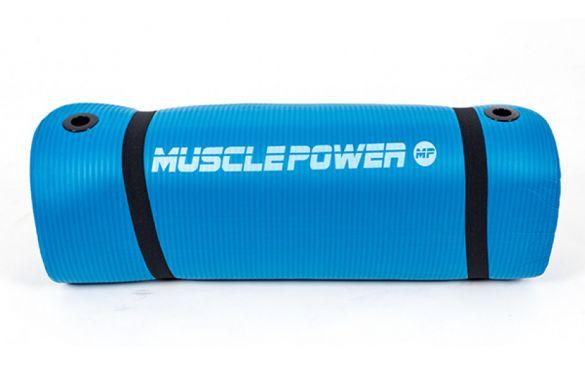 Muscle Power Gymnastiekmat Blauw 190 x 60 x 1,5 CM MP1454  MP1454blauw