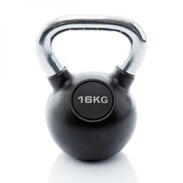 Muscle Power Kettlebell Rubber - Chrome 16 KG MP1301  MP1301-16