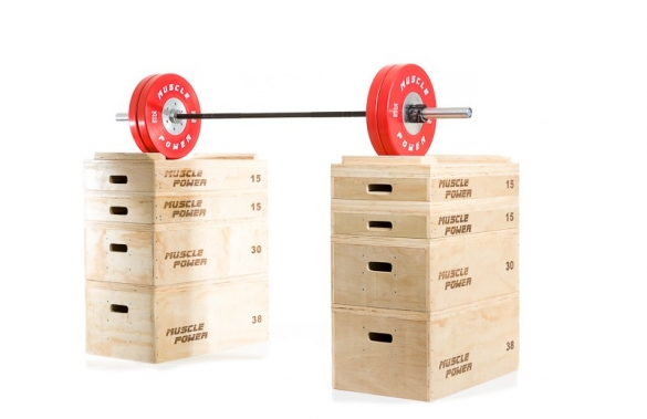 Muscle Power Houten Jerk Blocks MP1059  LMX1059