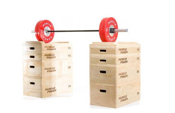 Muscle Power Houten Jerk Blocks MP1059  LMX1059
