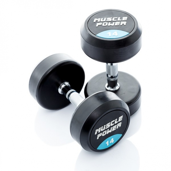 Muscle Power Ronde Dumbbellset 14 KG MP914  MP914-14KGSET