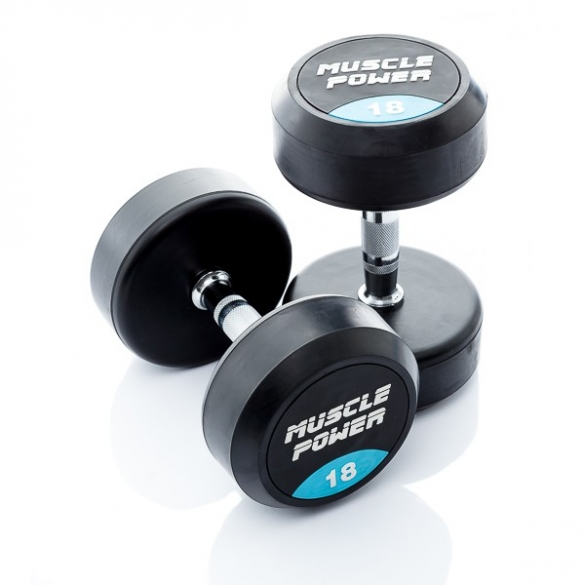 Muscle Power Ronde Dumbbellset 18 KG MP914  MP914-18KGSET