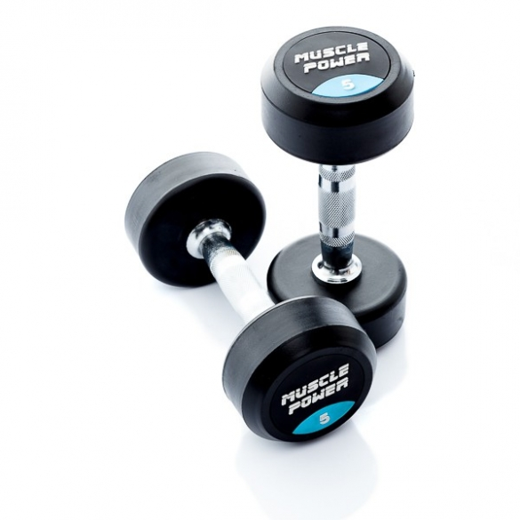 Muscle Power Ronde Dumbbellset 5 KG MP914  MP914-5KGSET