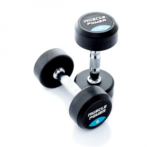 Muscle Power Ronde Dumbbellset 6 KG MP914  MP914-6KGSET