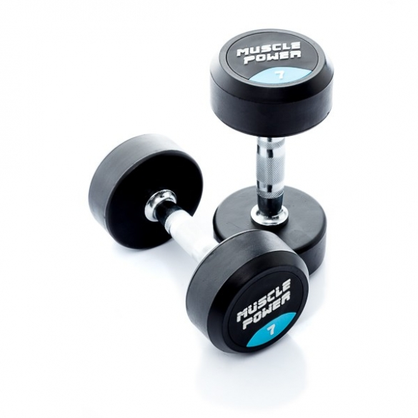 Muscle Power Ronde Dumbbellset 7 KG MP914  MP914-7KGSET