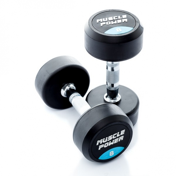 Muscle Power Ronde Dumbbellset 8 KG MP914  MP914-8KGSET