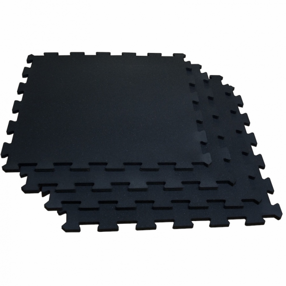 Body-Solid Puzzelmat set 100 x 100 cm solid black  RF4PMB