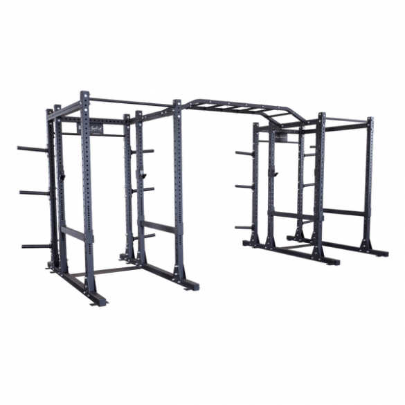 Body-Solid Commercial Extended double power rack package  SPR1000DBBACK