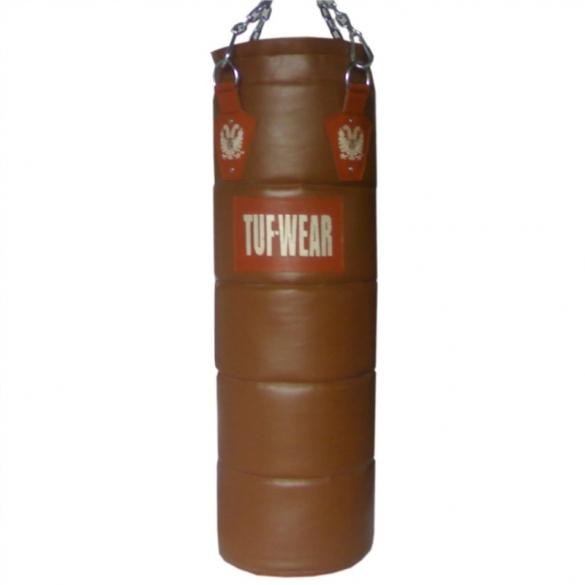 Tufwear bokszak leder 120 cm bruin 45 kg  T43