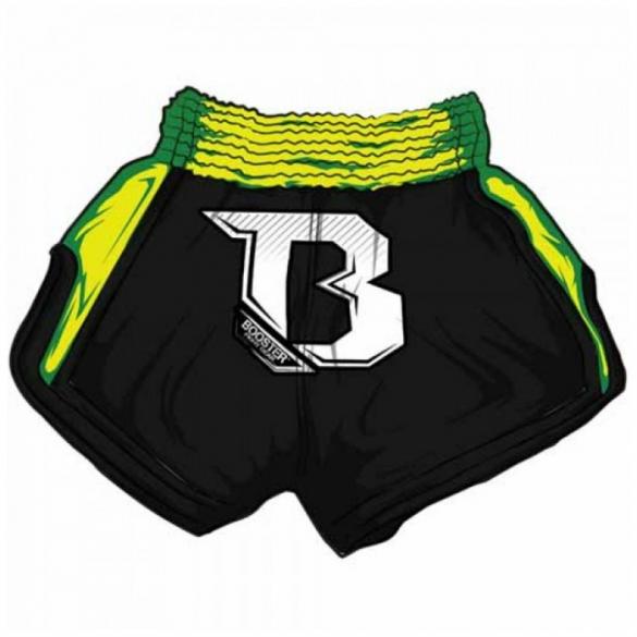 Booster TBS Air thaiboksbroek zwart neon groen  BOOSTER TBS AIR GRN
