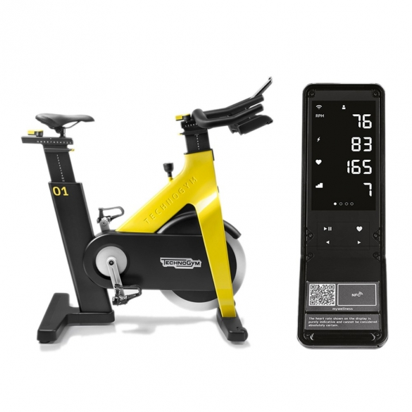 Technogym Group Cycle Connect yellow demo  TGGRPCYCLCNNCTY-demo