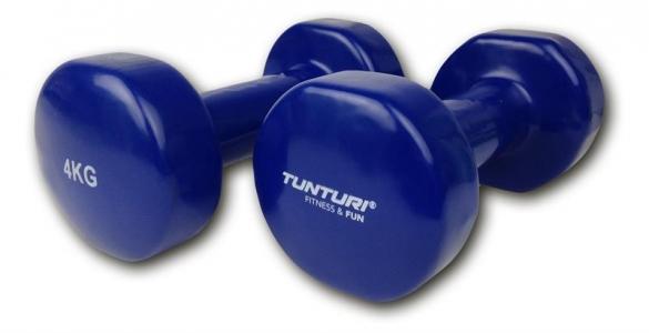 Tunturi Dumbells Vinyl Overtrokken Gietijzer Blauw 4 kg 14TUSFU112  14TUSFU112
