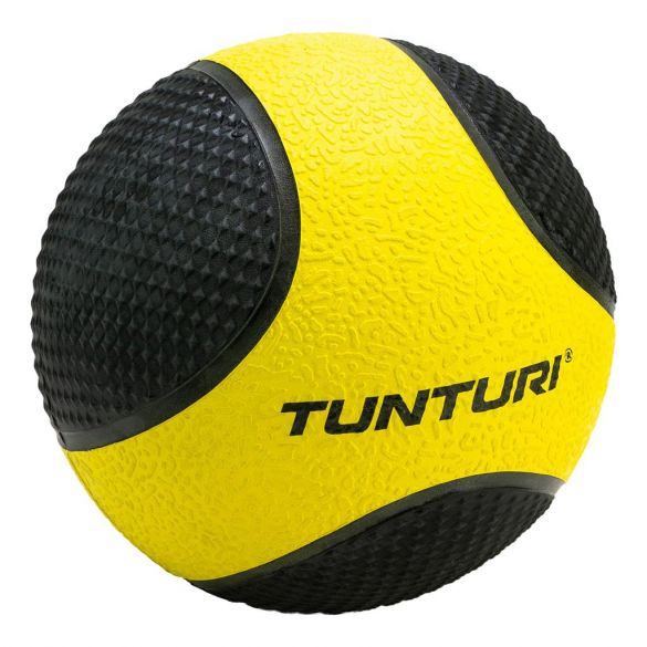 Tunturi Medicine ball 1 kg geel/zwart  14TUSCL401