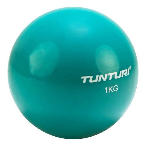 Tunturi Yoga toningbal 1 kg turquoise  14TUSYO046/VRR